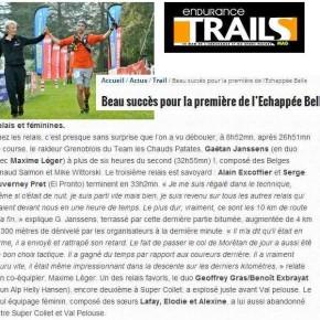 Echappée Belle dans Trails Endurance