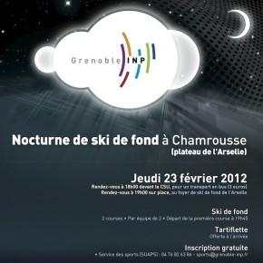 La nocturne de ski de fond de Grenoble INP