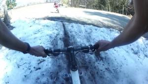 Descente VTT 2 neige