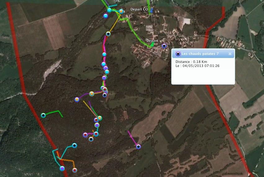 Suivit live GPS Raid INP grenoble 2013