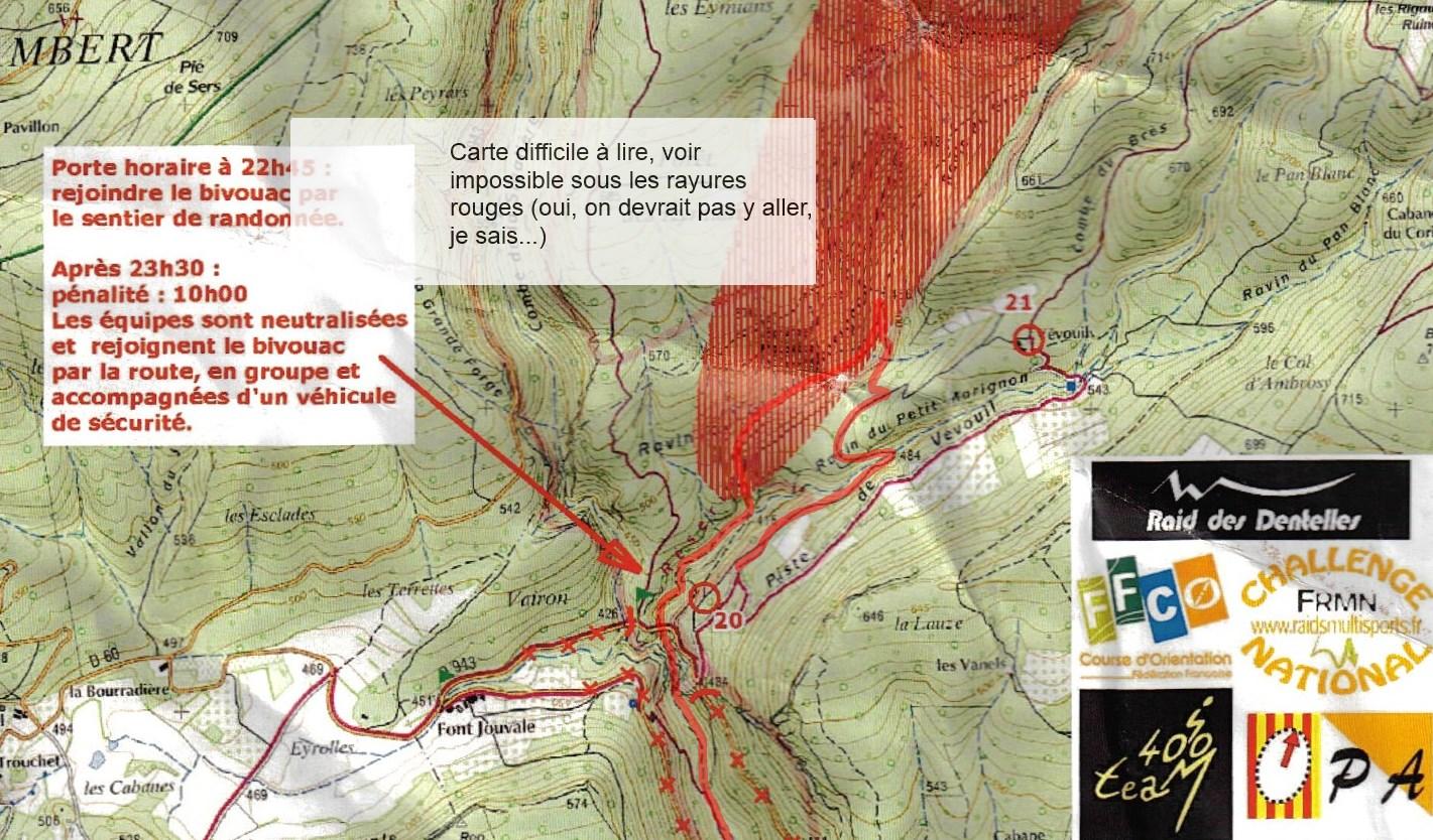 Dentelles 2014 VTT 3 Balise 20 terrain