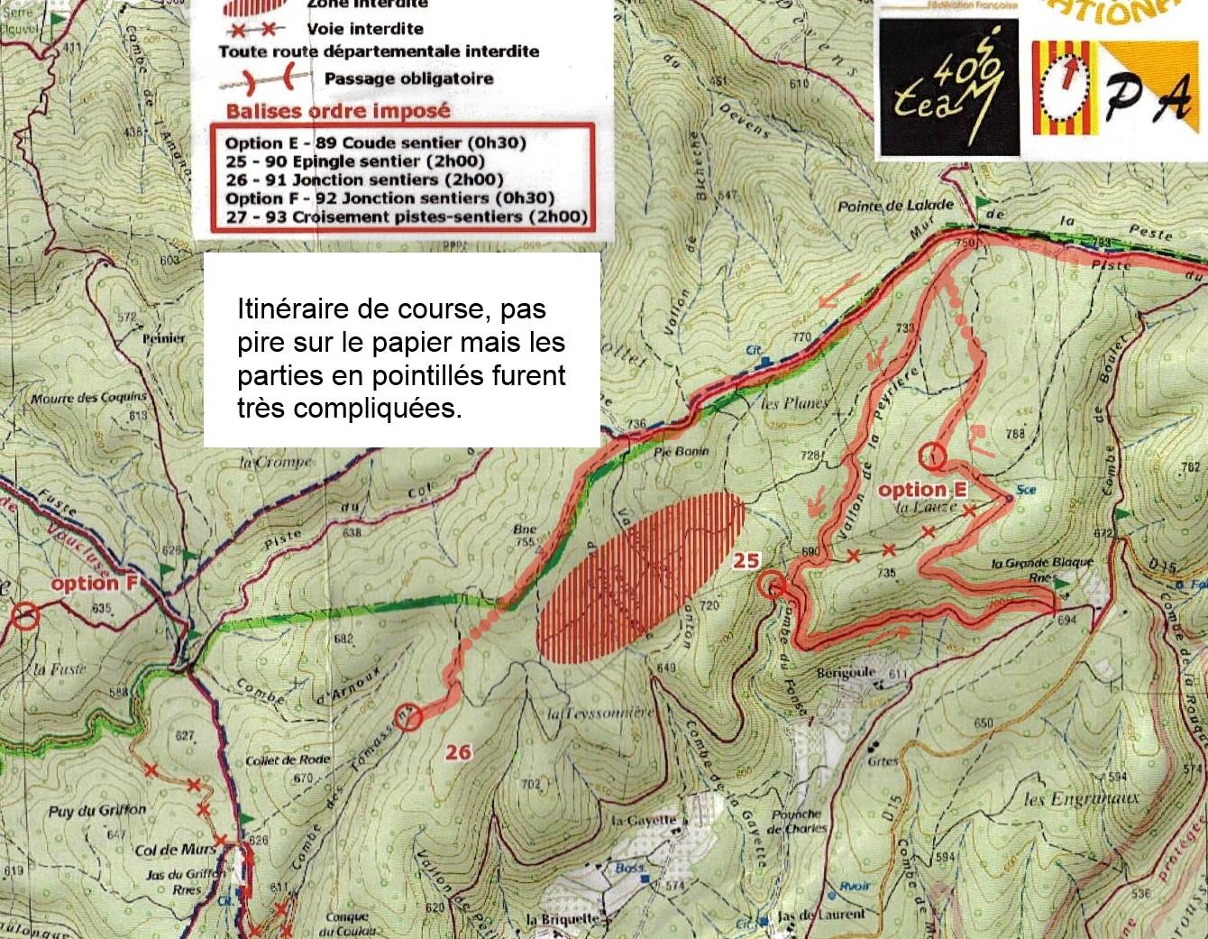 Dentelles 2014 VTT Option E terrain