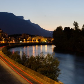 berges isère grenoble nuit