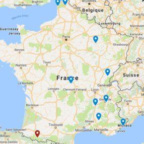 Les étapes du Championnat de France 2017/2018 FFTRI