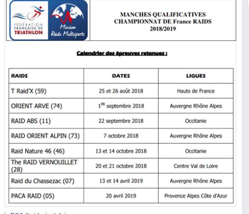 Calendrier Raid Multisport 2019.Les Etapes Du Championnat De France 2018 2019 Team Chauds